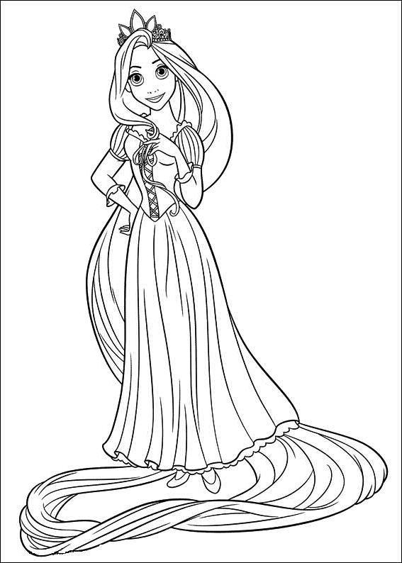 dessin princesse raiponce barbie