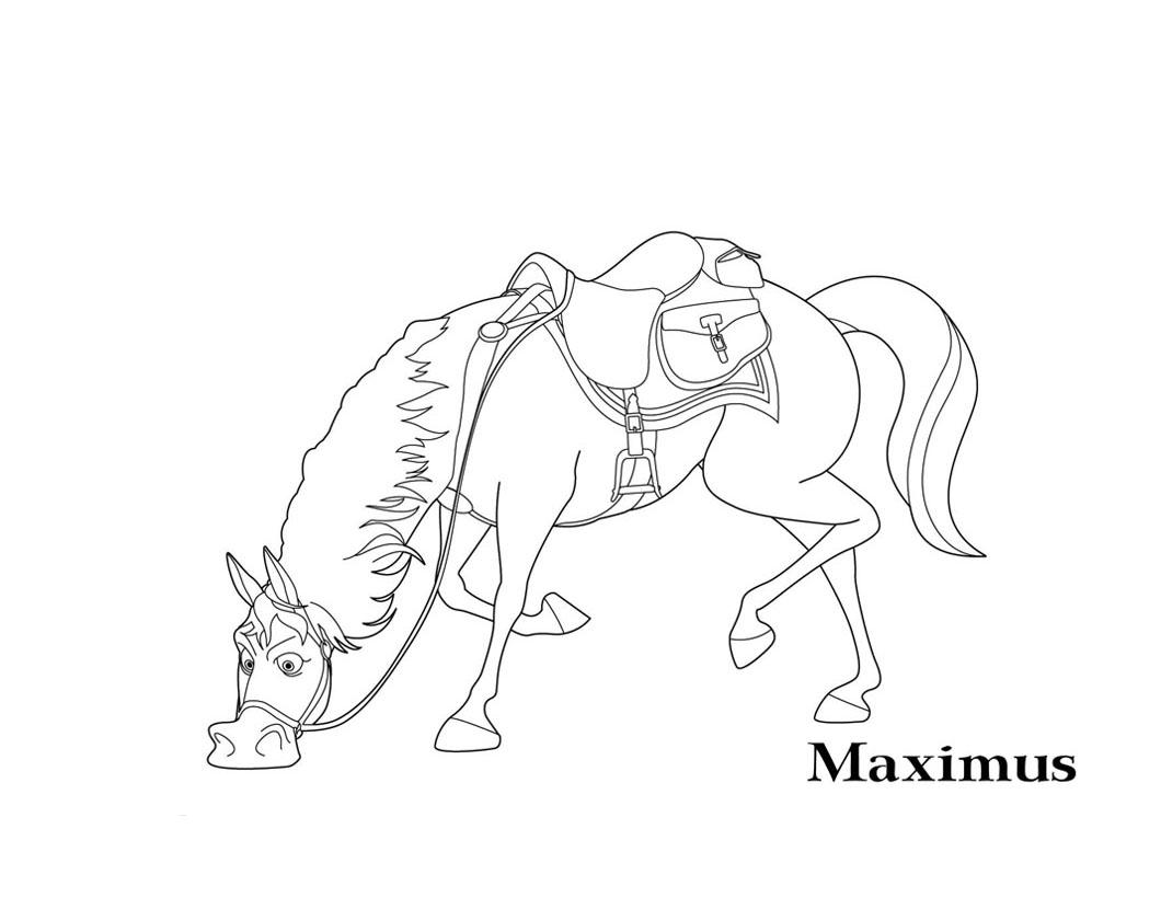 Coloriage raiponce pascal - Maximus cheval raiponce ...