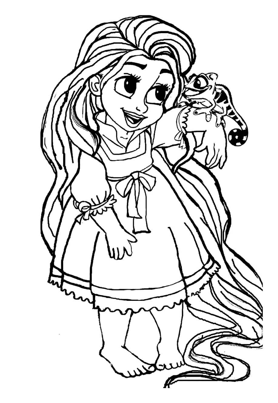 dessin a colorier raiponce gratuit