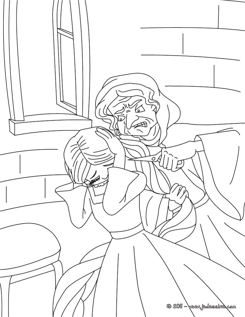 Coloriage princesse raiponce gratuit imprimer - Dessin raiponce ...