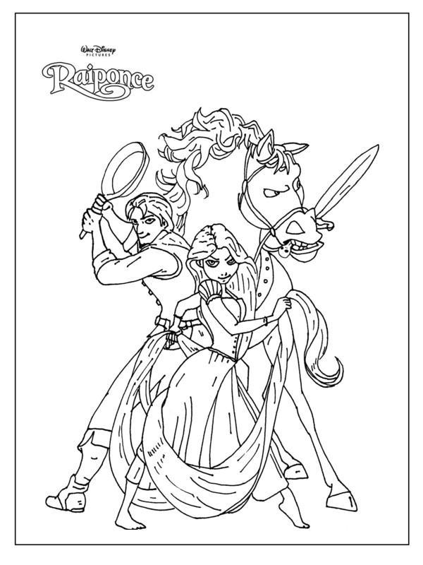 dessin � colorier raiponce � imprimer