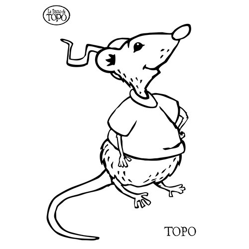 coloriage à dessiner rat à imprimer