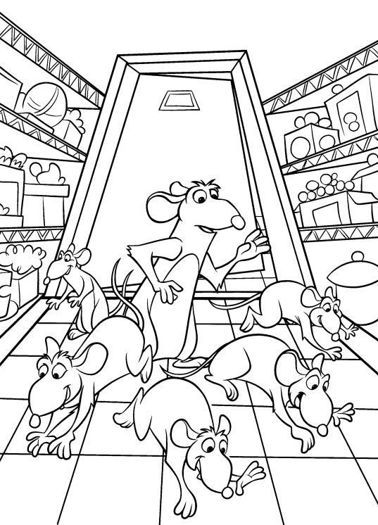 dessin � colorier magique de ratatouille