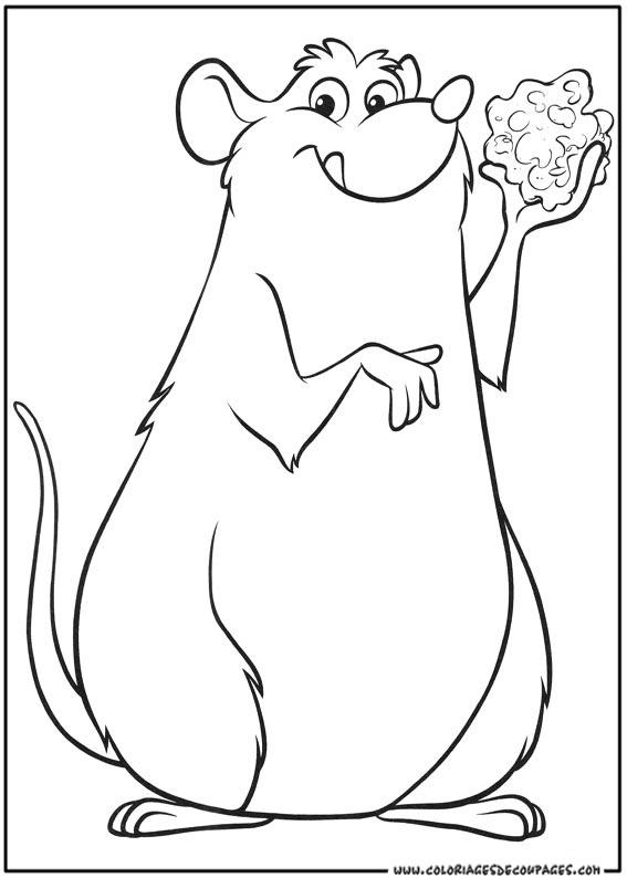 Coloriage Facile Ratatouille.Coloriage De Ratatouille En Ligne