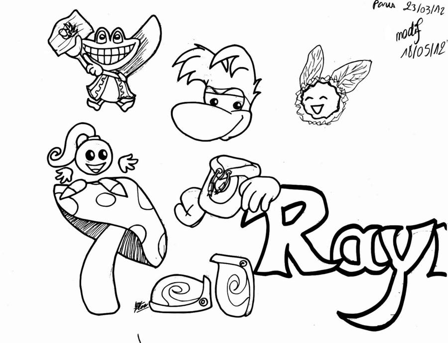 dessin a imprimer rayman origins