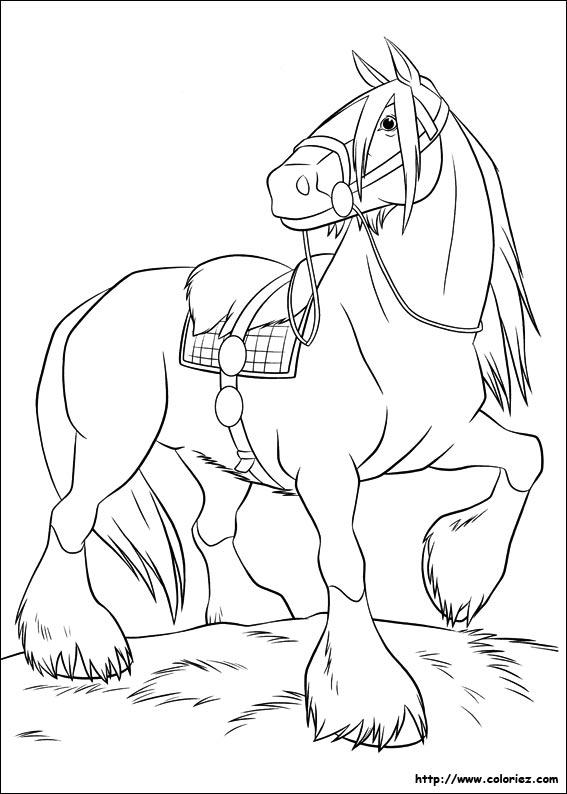 20 dessins de coloriage rebelle disney imprimer imprimer - Cheval de rebelle ...