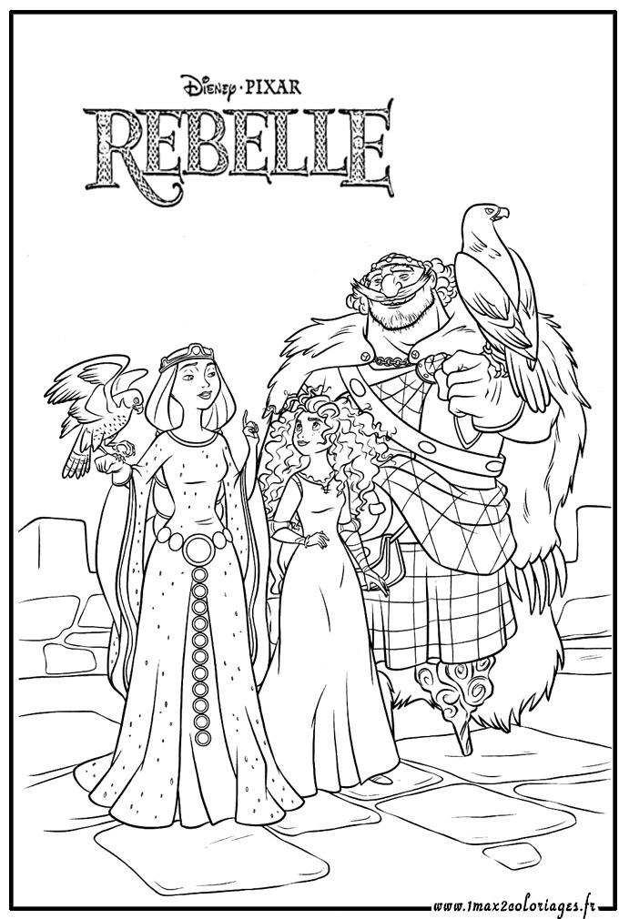 dessin à colorier rebelle imprimer