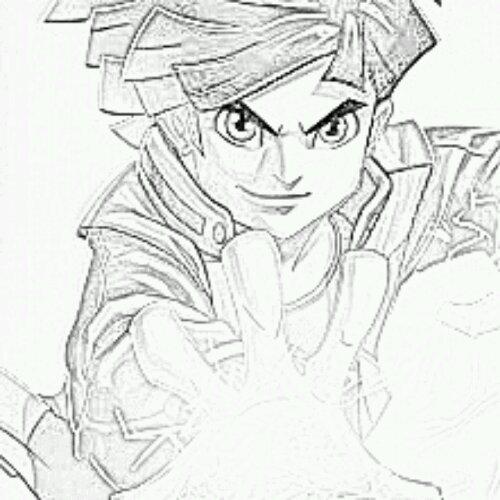 dessin à colorier de redakai saison 2