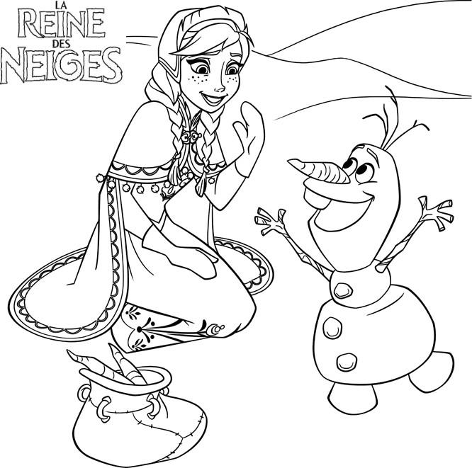 Coloriage Olaf.Image 25923 Coloriage Olaf Gratuit Coloriage La Reine Des