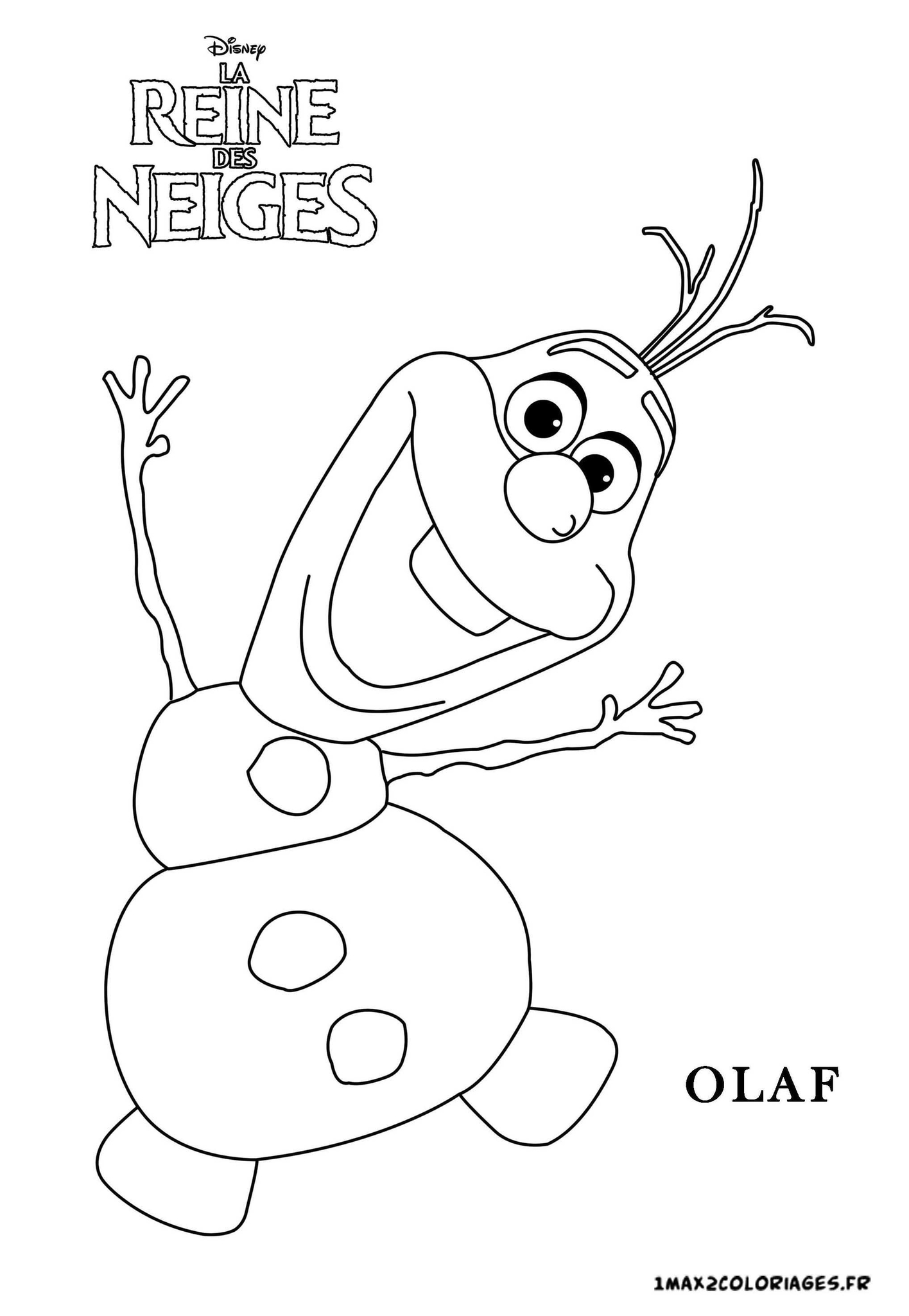 Olaf Coloring Pages Pdf : Dessins de coloriage reine des neiges olaf � imprimer