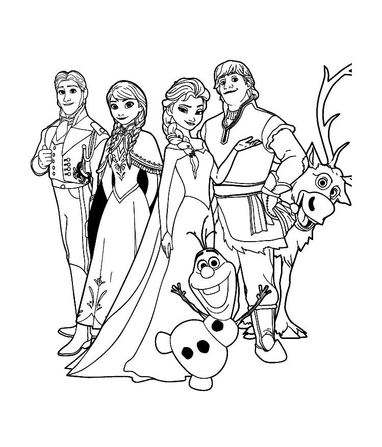 coloriage reine des neiges pdf