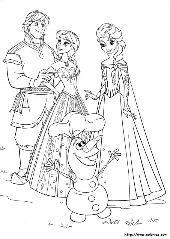coloriage à imprimer la reine des neiges hugo l'escargot