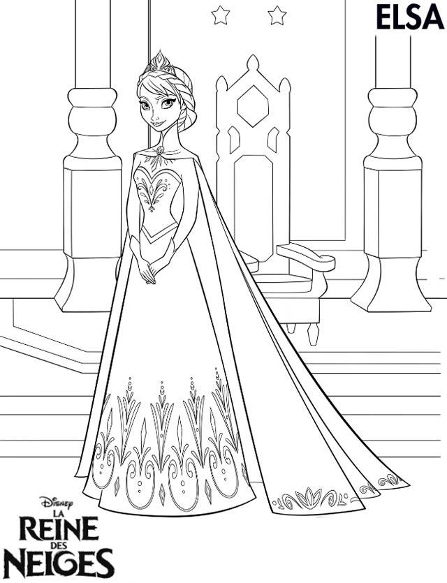 coloriage à dessiner reine des neiges 4 ans