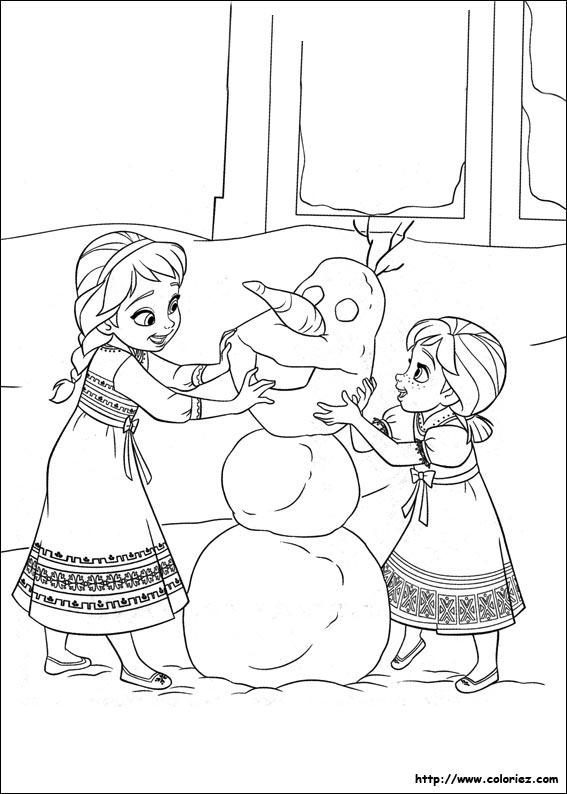 coloriage à dessiner à imprimer reine des neiges elsa
