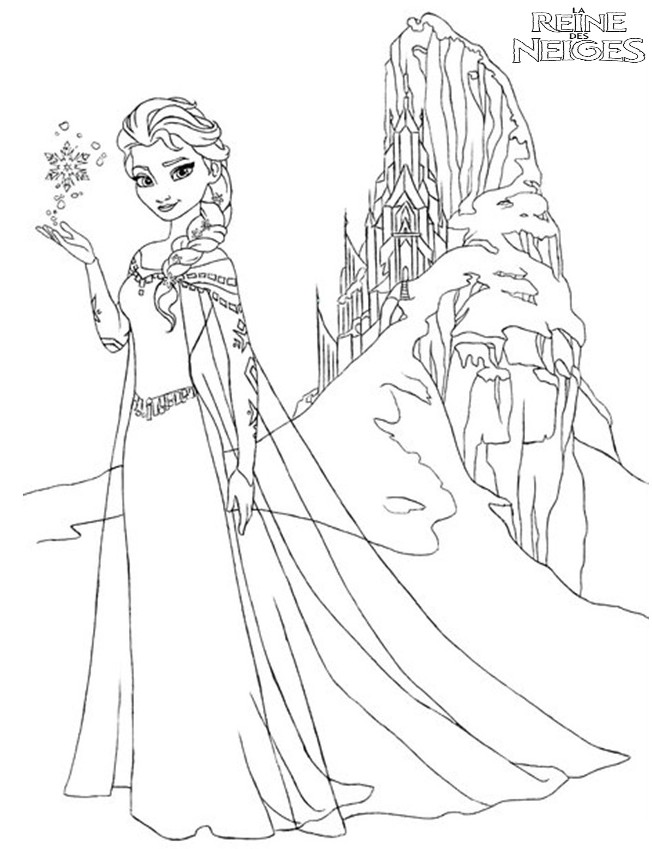 coloriage à dessiner reine des neiges à imprimer gratuitement