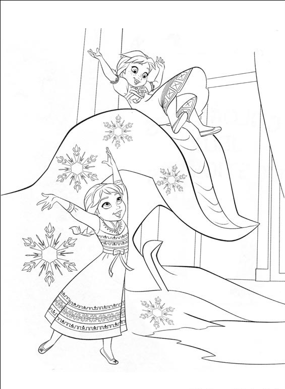 coloriage à dessiner reine des neiges hugo l'escargot