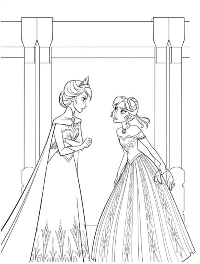 Dessin reine des neiges gratuit en ligne - Coloriage princesse des neiges ...