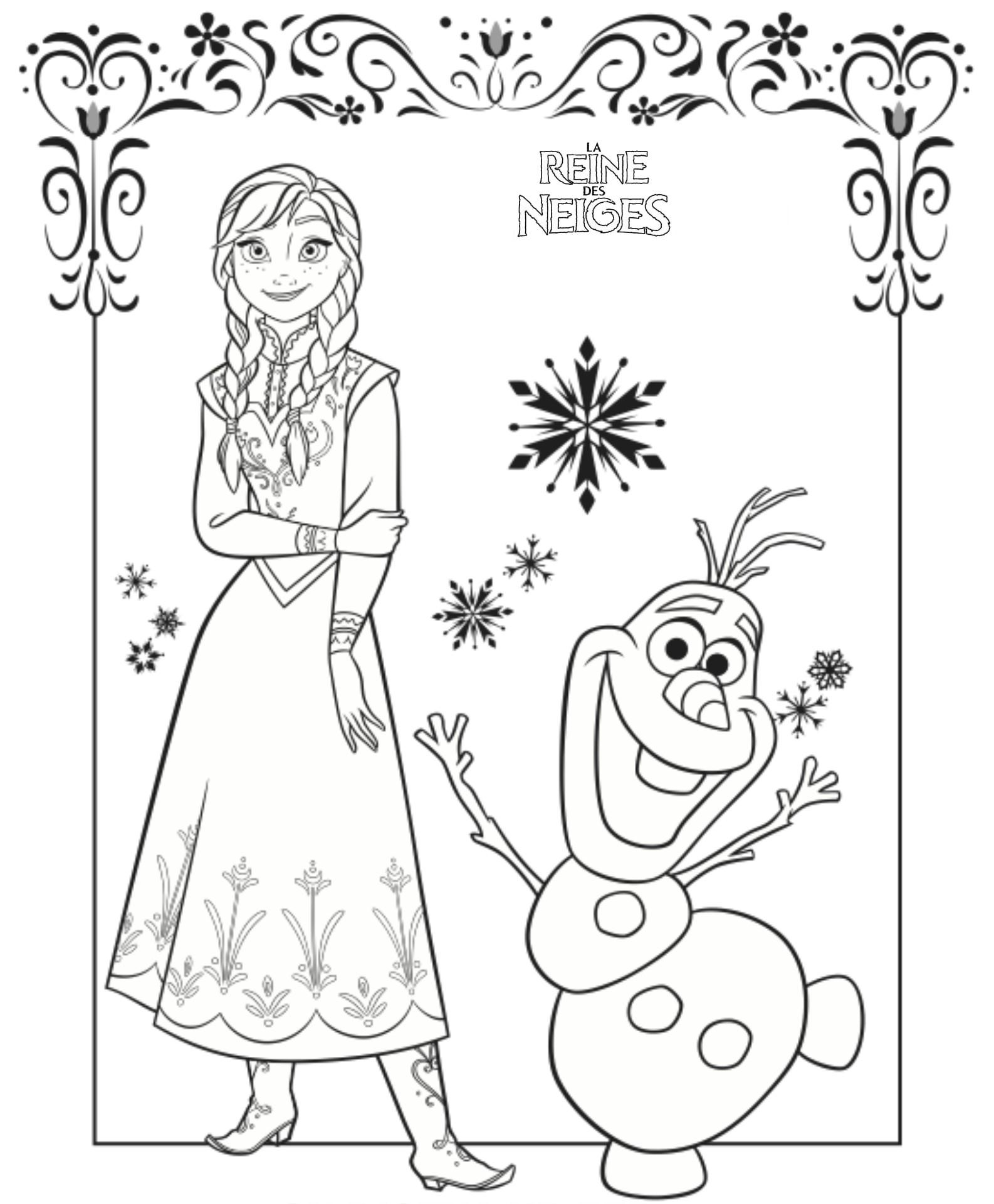 Coloriage reine des neiges disney en ligne - Dessin de reine des neiges ...