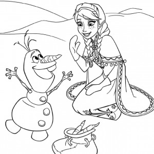 coloriage reine des neiges hugo