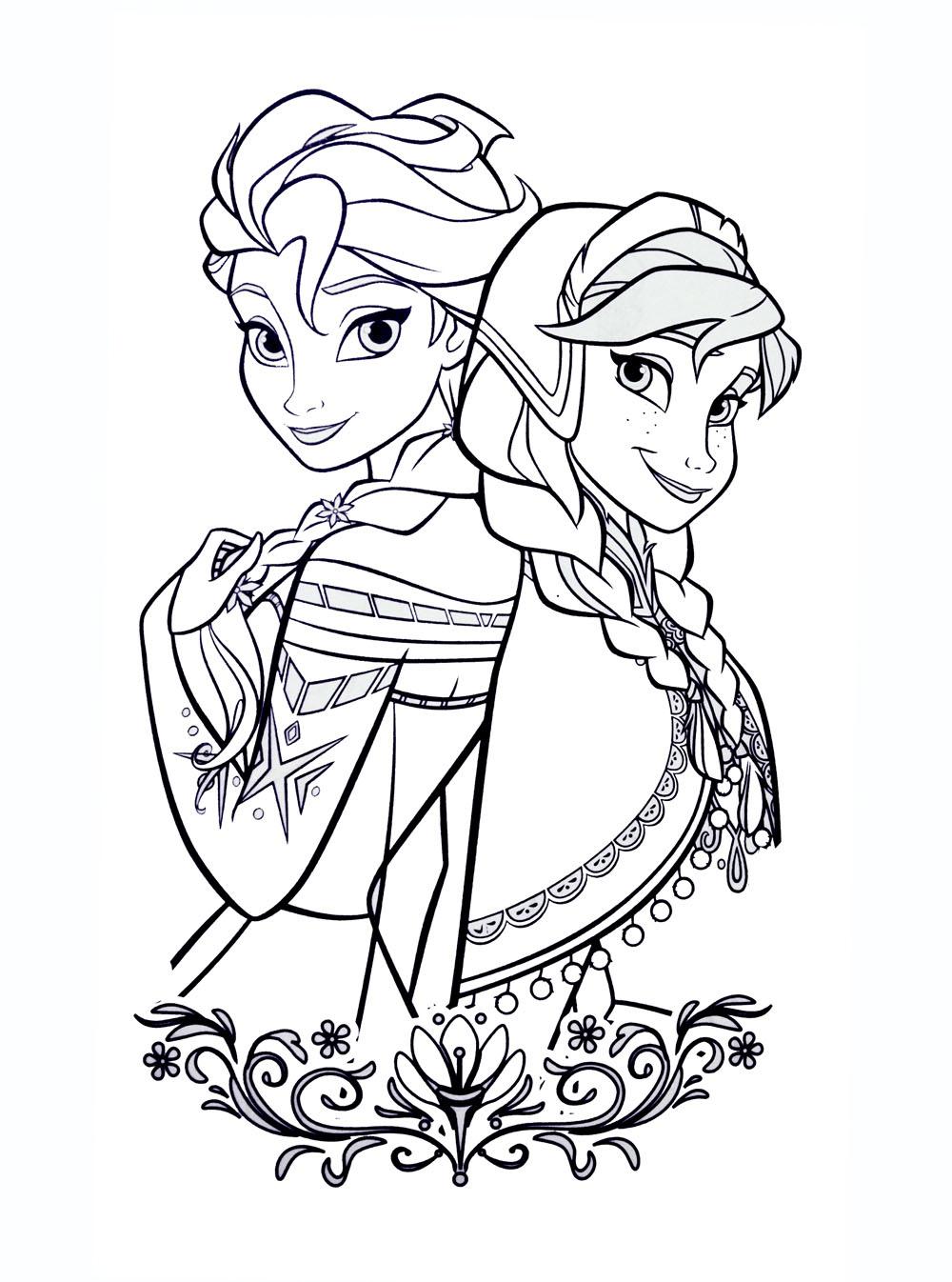 dessin reine des neiges disney à imprimer
