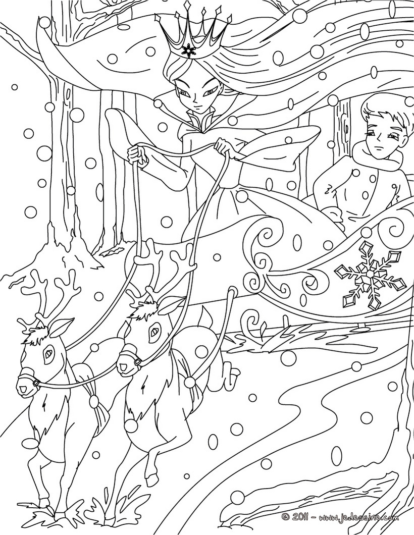 dessin à colorier reine des neiges olaf a imprimer
