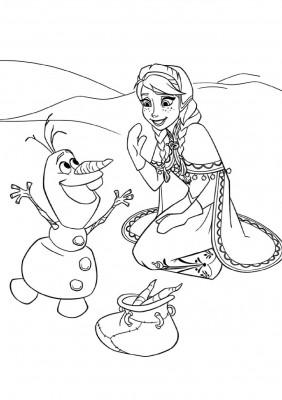 coloriage reine des neiges 4 ans