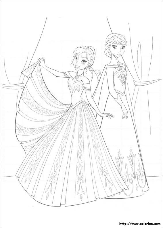 coloriage à dessiner reine des neiges imprimer