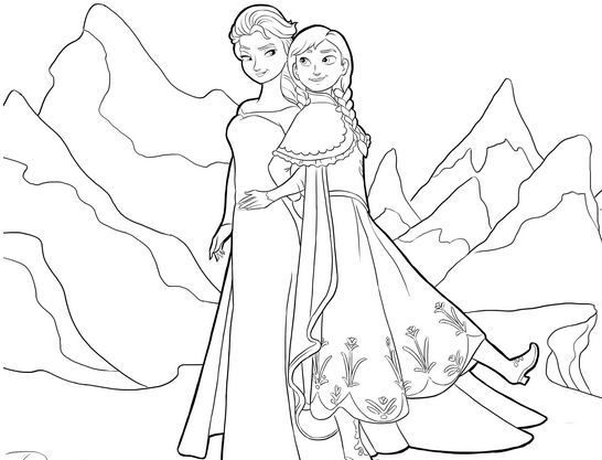 dessin reine des neiges à imprimer pdf