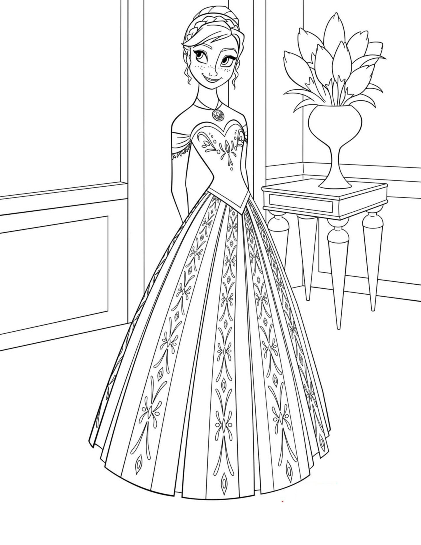 coloriage à dessiner reine des neiges disney en ligne