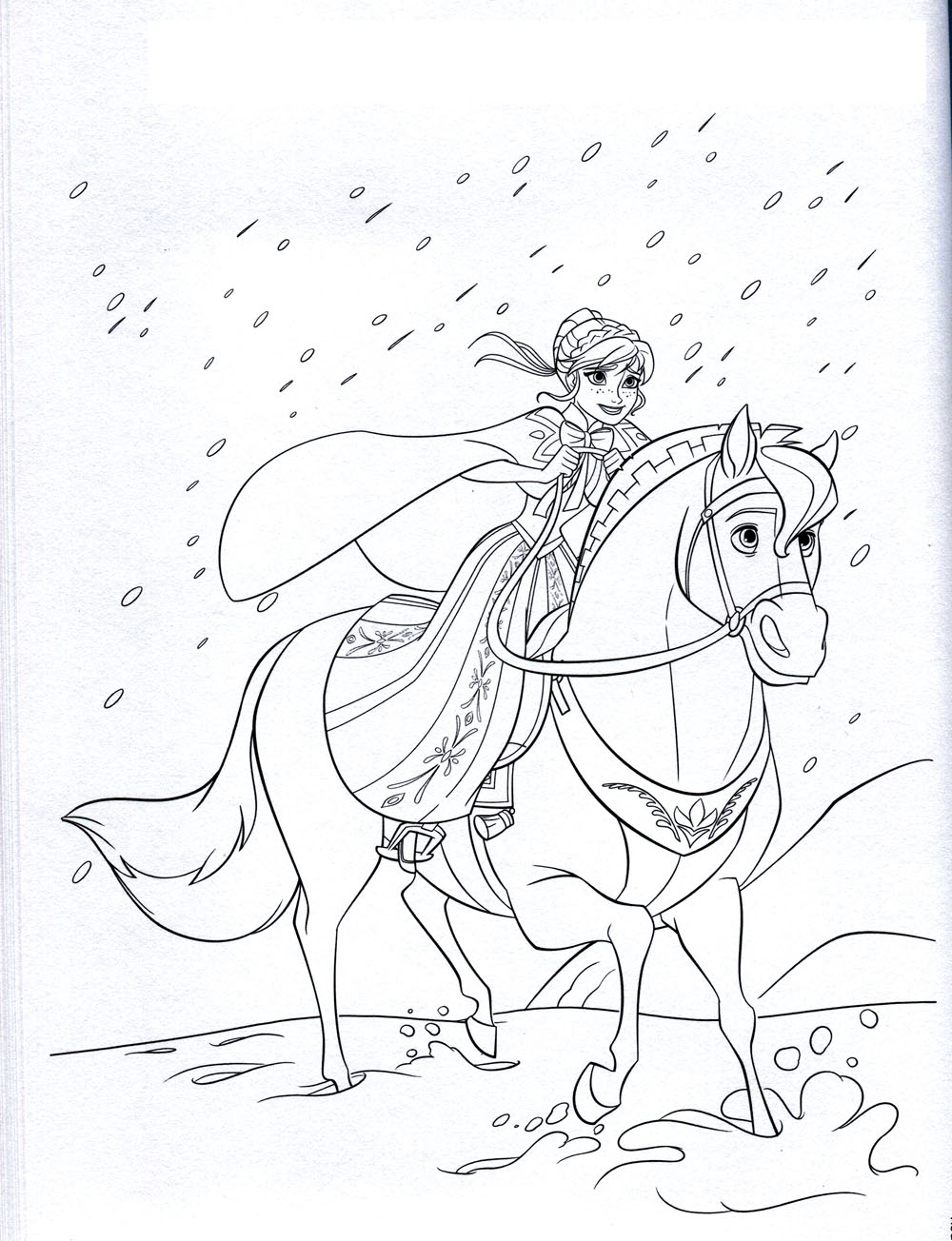 coloriage reine des neiges sur hugo l'escargot