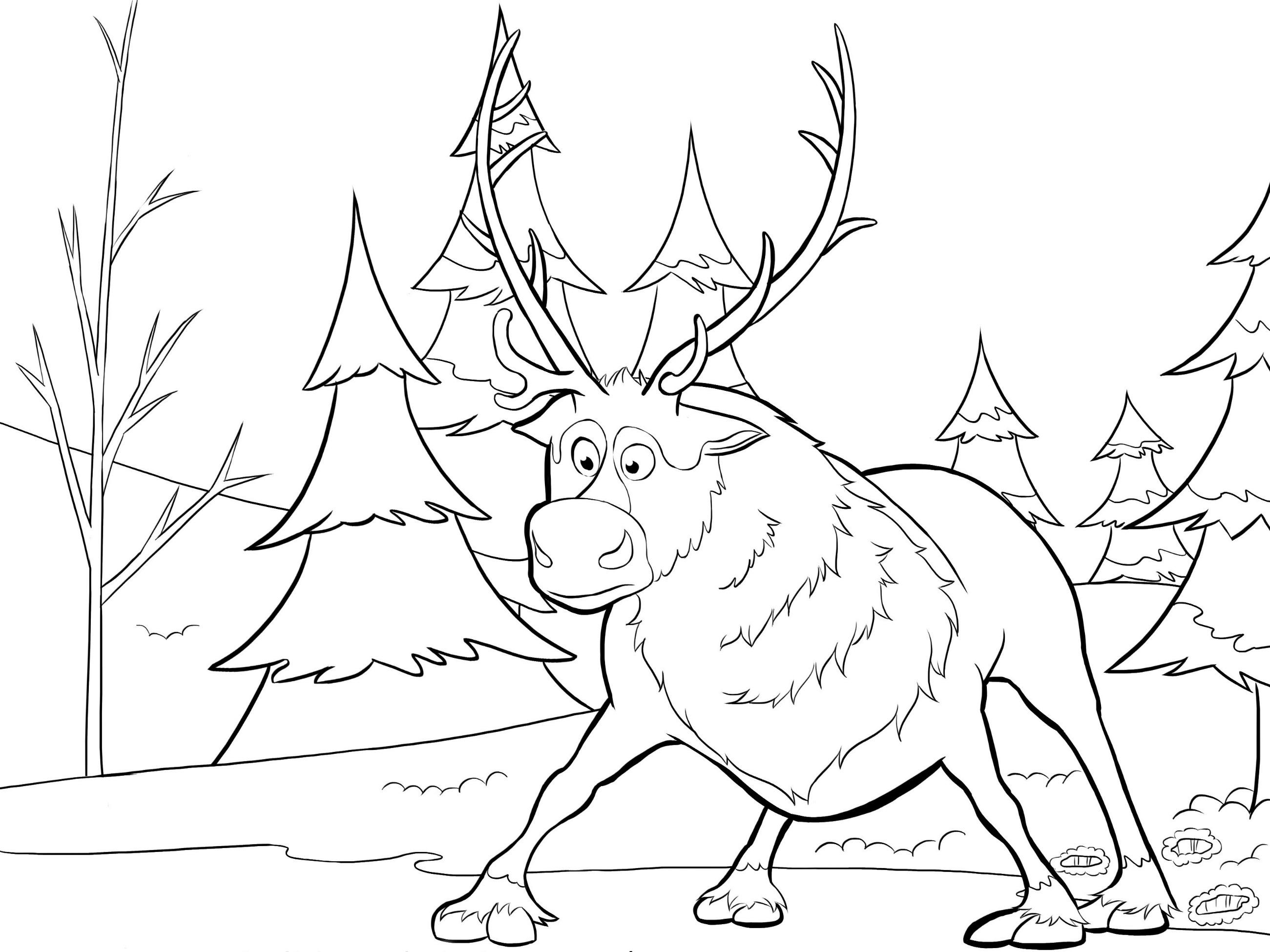 coloriage à dessiner reine des neiges anna et elsa