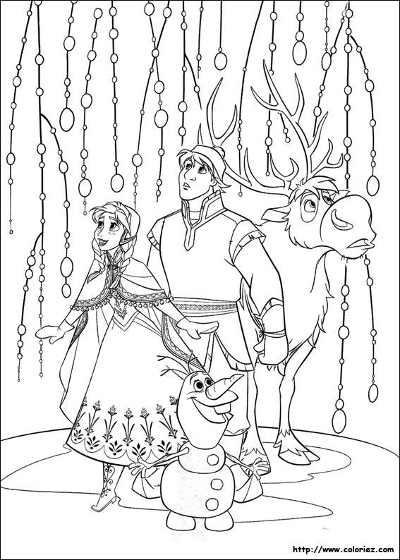 dessin à imprimer reine des neiges