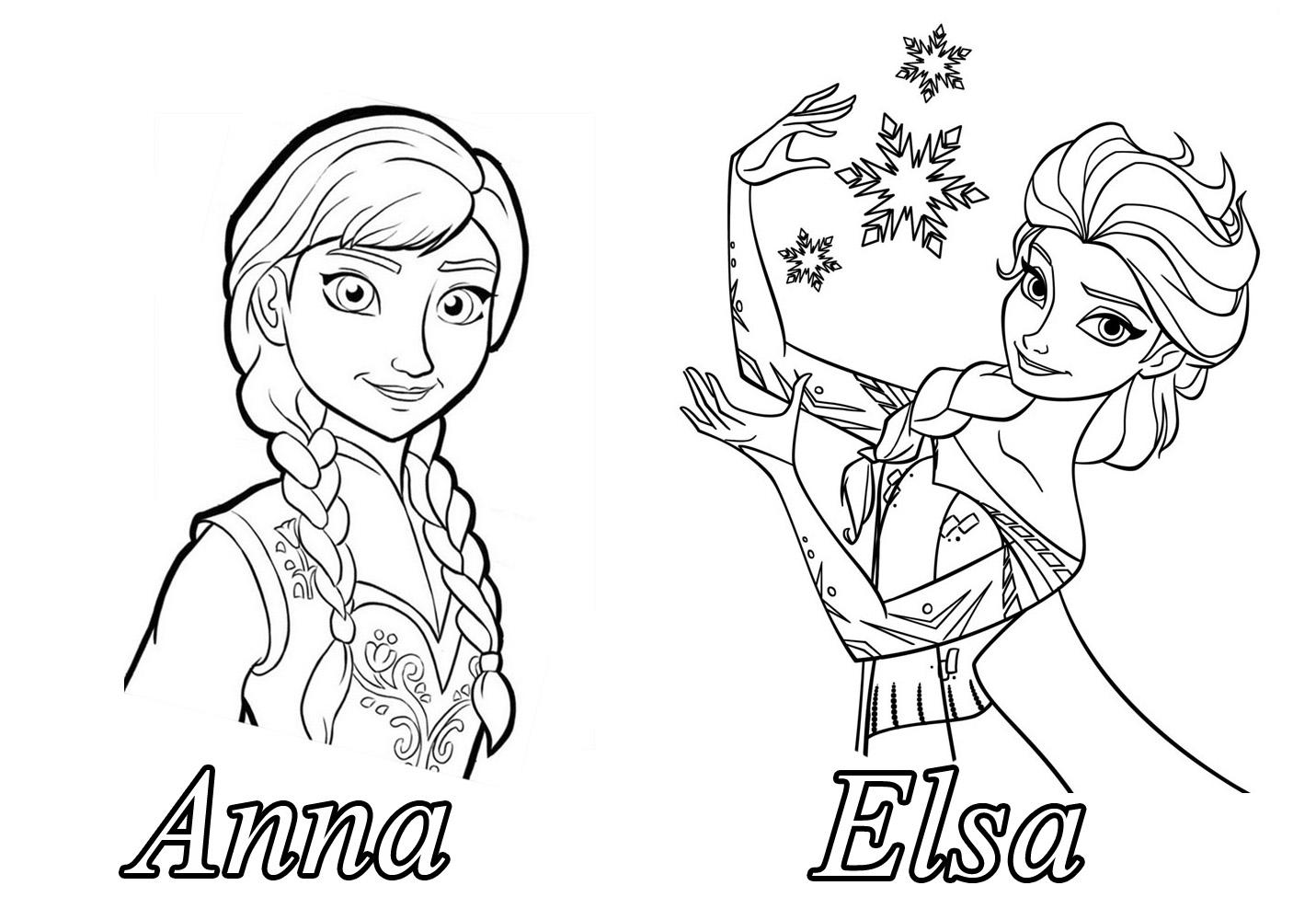 dessin a colorier reine des neiges en ligne