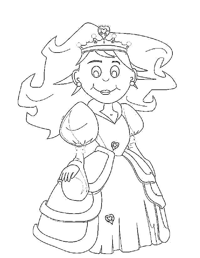 coloriage à dessiner princesse reine des neiges à imprimer