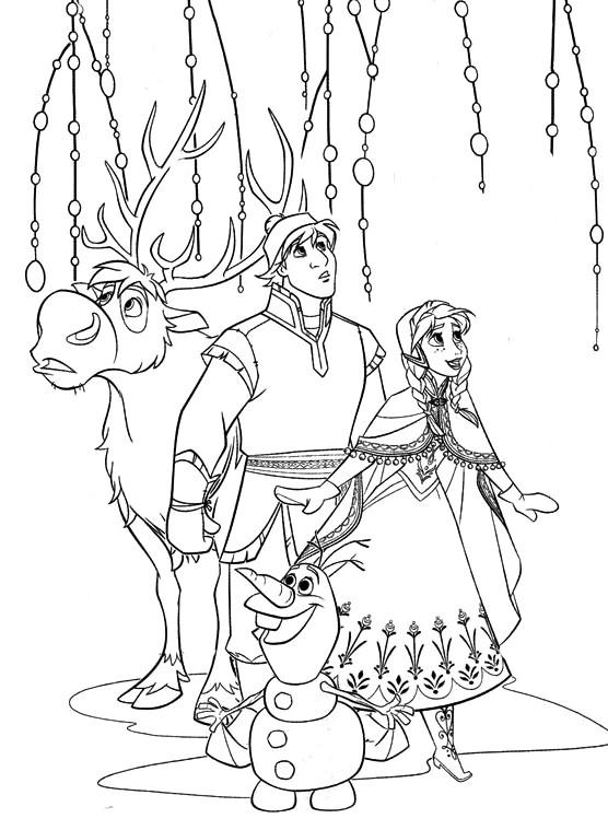 coloriage à dessiner reine des neiges olaf en ligne