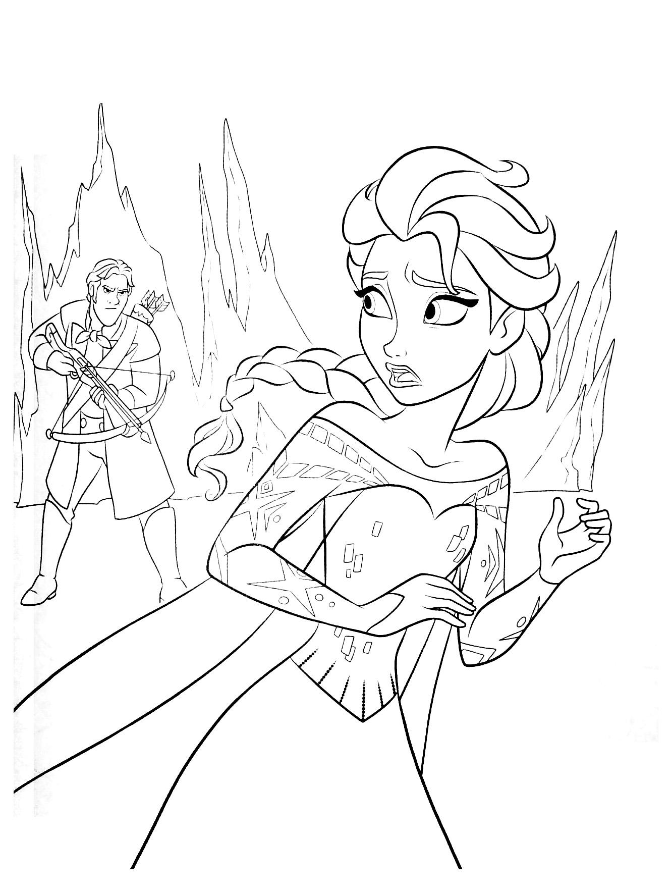 coloriage à dessiner fille reine des neiges