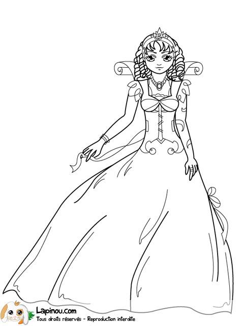 dessin à colorier reine maternelle