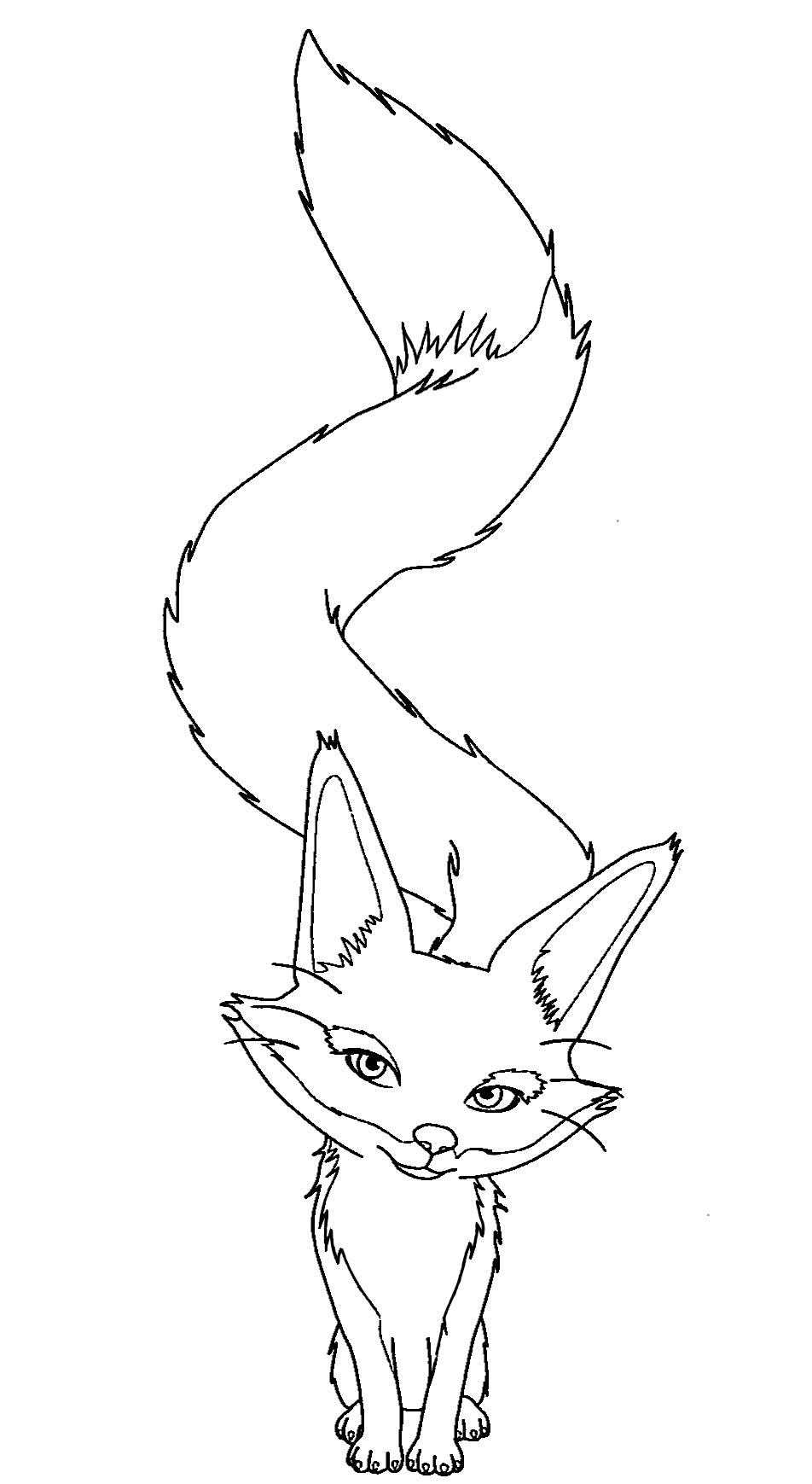Inspiration coloriage de renard des neige - Renard dessin ...