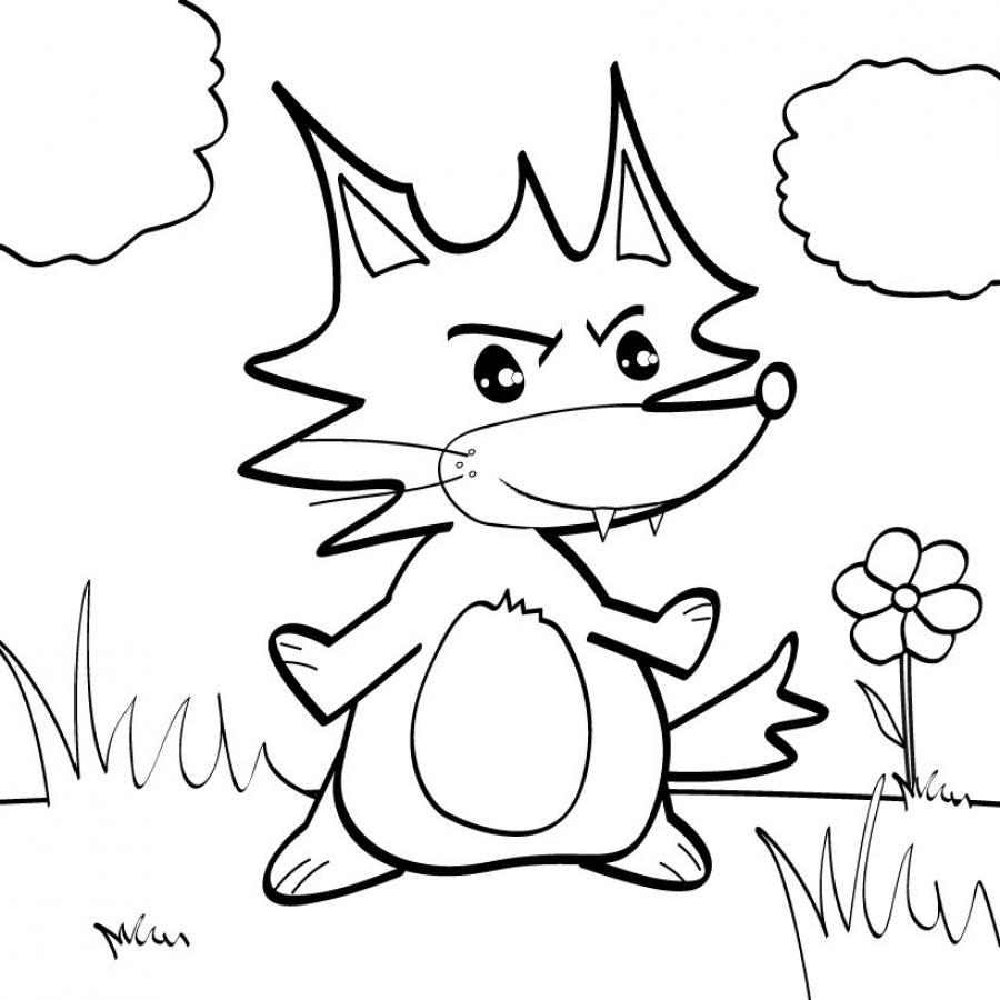 18 dessins de coloriage renard roule galette imprimer - Coloriage renard ...