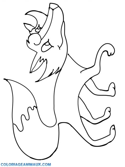 Dessin naruto demon renard 9 queues - Coloriage renard a imprimer ...