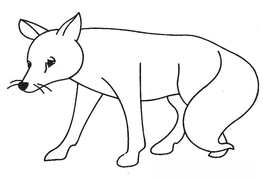 coloriage à dessiner le renard et la cigogne