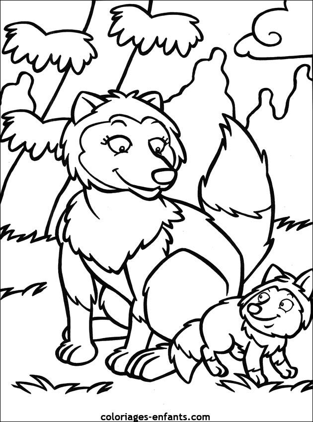 dessin à imprimer renard