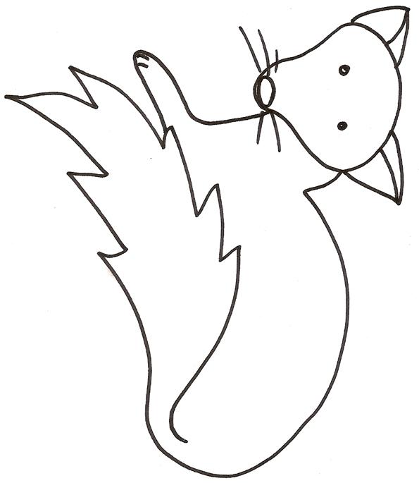 dessin à colorier à imprimer renard