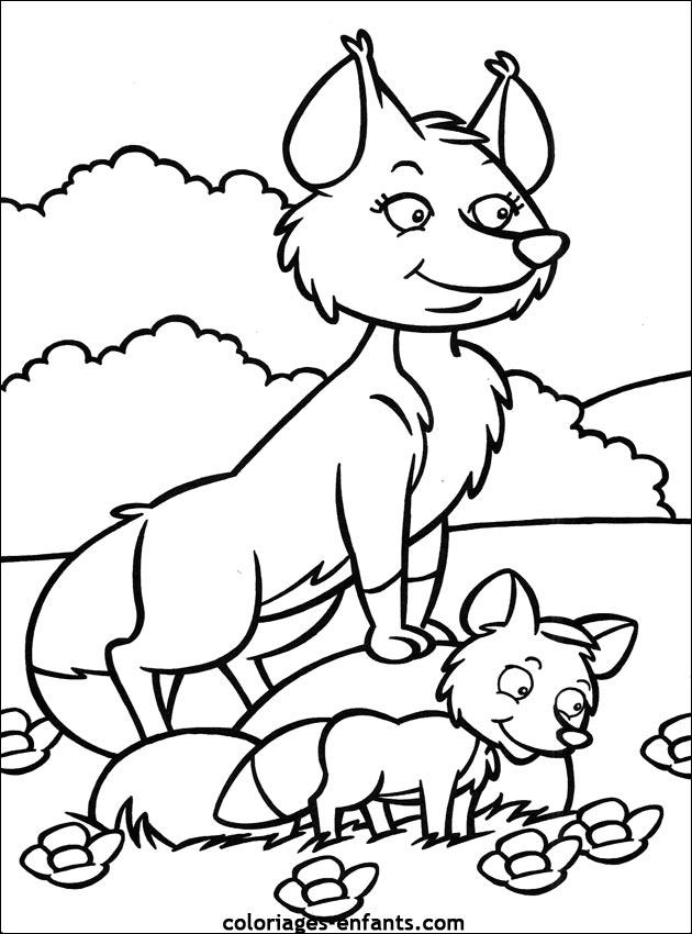 dessin corbeau renard