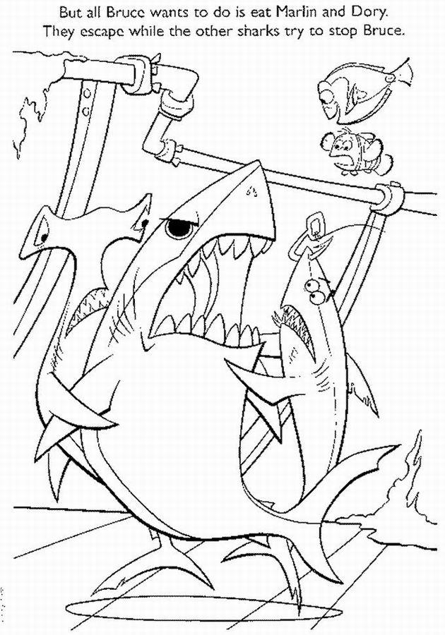 dessin gang de requin à imprimer