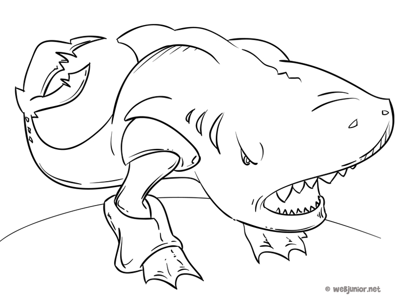 Coloriage De Requin Marteau En Ligne