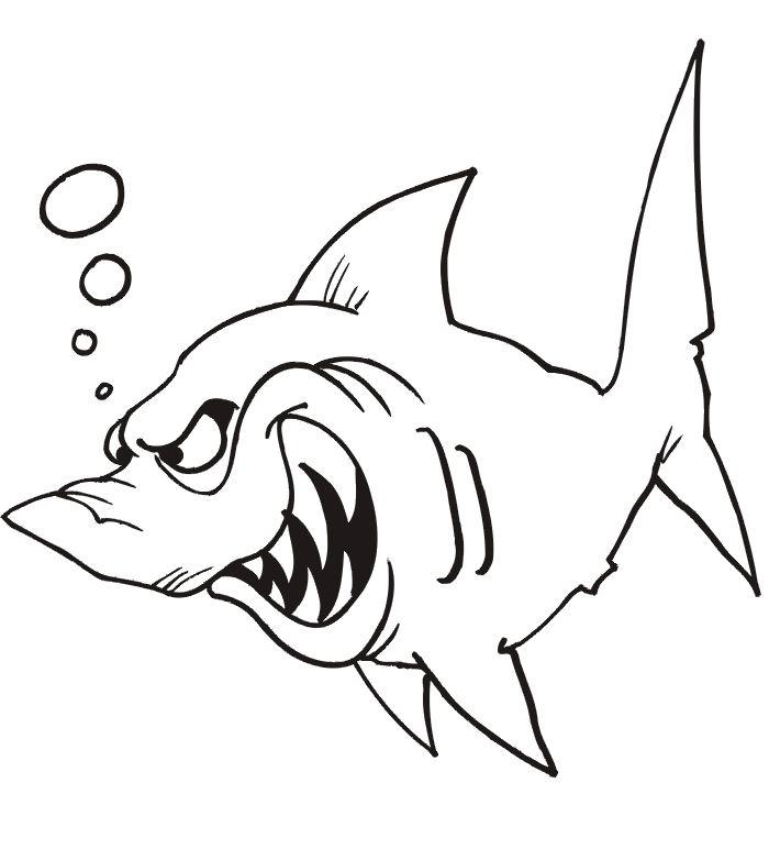 dessin à colorier de vrai requin