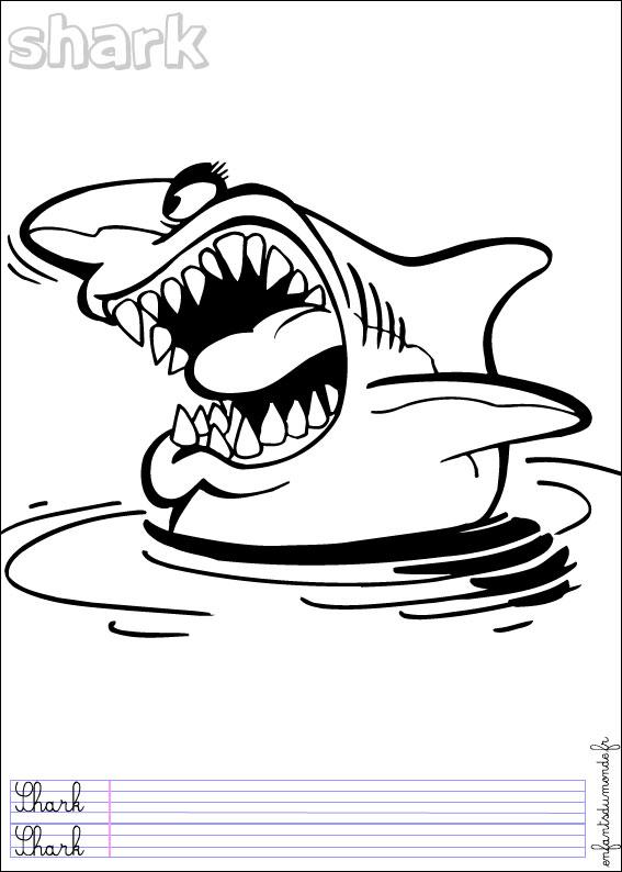 Dessin colorier requin d 39 avril - Coloriage de requin baleine ...