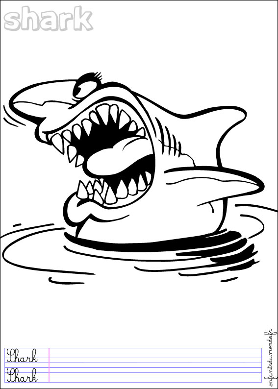 dessin requin baleine a imprimer