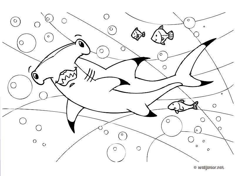 dessin à colorier requin scie a imprimer